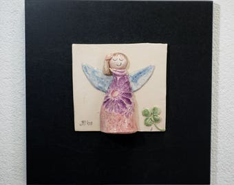 Angel on wood
