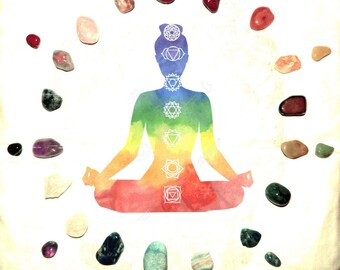 INTUITIVELY SELECTED Chakra Set 8-10 gemstone set - hand-picked natural stones - Reiki Wicca Pagan Energy-work Tool