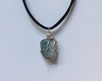 Blue Apatite // Blue Apatite Necklace // Crystal Jewelry