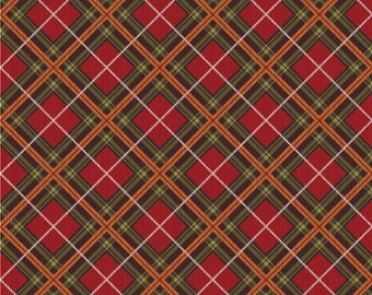 Red, Green Versatile Holiday Plaid, Home for the Holidays, Northcott, Deborah Edwards (By YARD)~