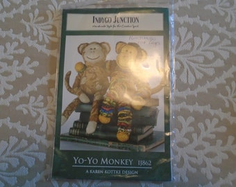 Indygo Junction Pattern # IJ862 Yo-Yo Monkey, New, Uncut, factory folded