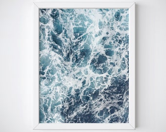 Ocean Print - Beach Print - Ocean Wave Print - Waves Print - Coastal Print - Beach Decor - Beach Art - Coastal Decor - Water Print