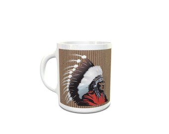 Red Indian Tribe, Wise, Ancient, Traditional Ceramic Mug