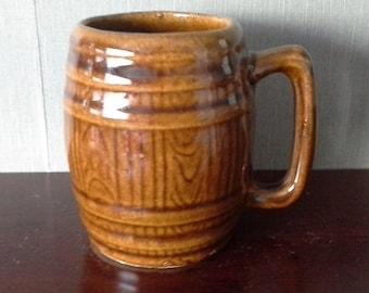 brown barrel mug