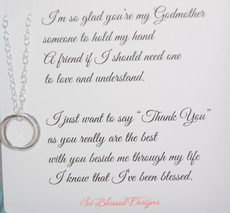 It S My Wedding Day Quotes: Gift For GODMOTHER Godmother Necklace POEM For Godmothers