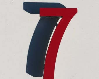 "Architectural Arts and Crafts  9""/228mm high Mission Mackintosh House numbers in virgin cladding g"