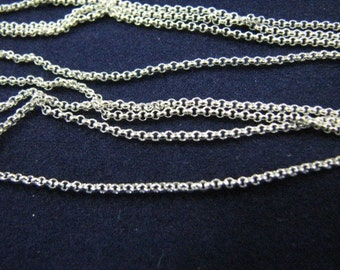 Sterling Silver 18 inch Rolo Chain Necklace 1.2mm Link with Spring Clasp