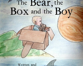 Children's Book Autographed by Author, Personalized to Child, w/or w/o Necklace Painted by Illustrator! Bear Box Boy, Bedtime