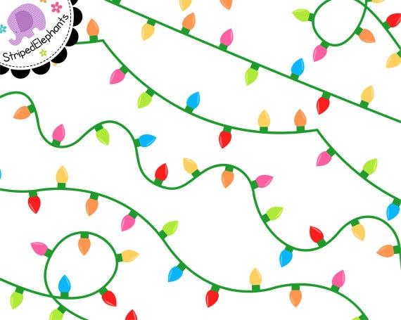 fairy lights clip art digital party lights christmas twinkle rh etsystudio com christmas string lights clipart string lights clipart free download