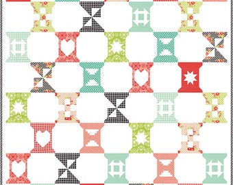 SALE!!!  Spool Sampler Quilt Kit By Bonnie and Camille for Moda Fabric HANDMADE (KIT55140)