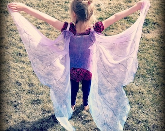 Butterfly Wings Fairy Wings Dress Up Wings Butterfly Costume Fairy Costume Silk Wings Glittery Butterfly Wings Shiny Fairy Wing Pretend Play