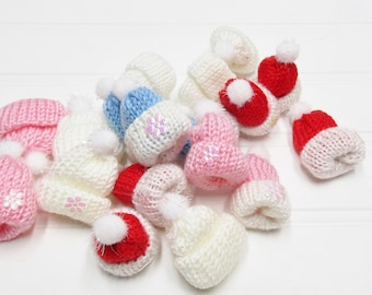 Baby Shower Favors Tiny Hats Set of 3 Red, White, Blue or Pinks