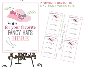 Kentucky Derby Bridal Shower - Derby Bridal Shower - Bridal Shower - Horse Racing Shower - Race To The Altar - Hat Contest - Printable