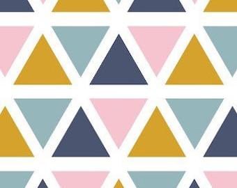 Triangles wall decals Mustard, Pink, Seafoam, Navy