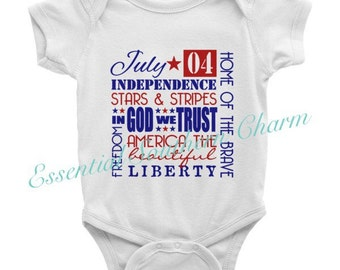 July 4 Independence Day Onesie