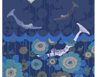 Mermaids at Midnight- Art Print