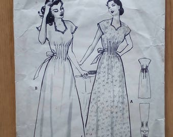 """1950s Nightdress - 32"""" Bust - Butterick 509 - Vintage Sewing Pattern"""
