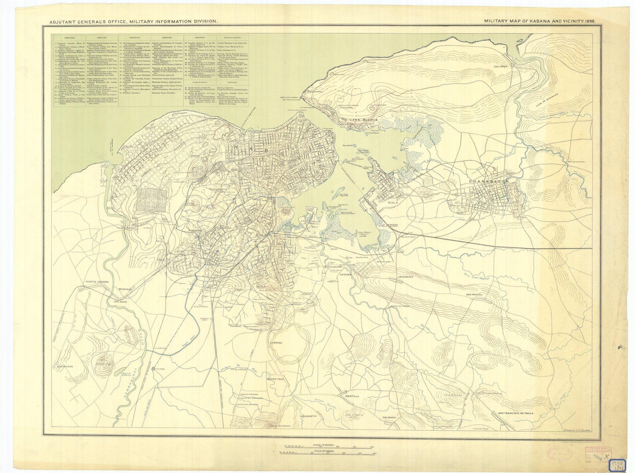 Havana Cuba Map 1898