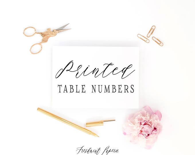 professional printing services - TABLE NUMBERS printed - freshmint paperie