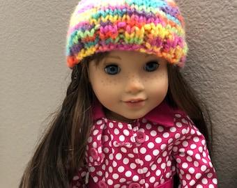 AG doll Spring Rainbow hat
