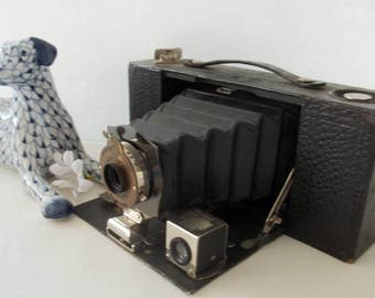 """1909 BROWNIE ~ Made by: Eastman Kodak Co.~ Folding Auto-Graphic Brownie No. 2-A """" FREE SHIPPING """""""