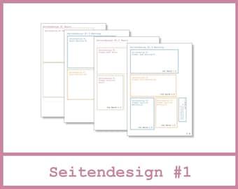 6x4 Mini Album - Anleitung - Seitendesign #1 - Seiten 1.0 bis 1.4