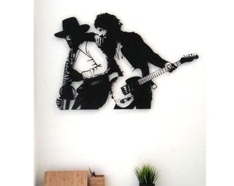 Large metal wall art - Bruce Springsteen, Born to run Art, Born to run, metal art, laser cut design, metal portrait, Bloomi