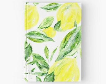 Lemon Journal, lemon notebook, yellow journal, leaf journal, yellow notebook, leaf notebook