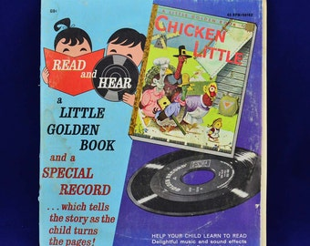 Chicken Little - Little Golden Book & Special Record - Read and Hear Set 00162 - Vintage 45 RPM Album c.1960 - Illustrated by Richard Scarry