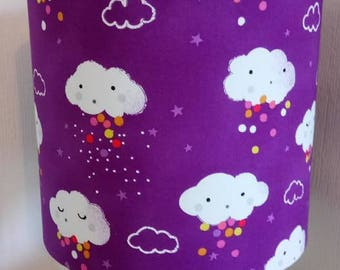 Purple Clouds Lampshade