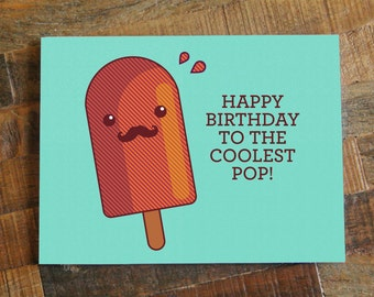 Coolest pop card etsy dad birthday card happy birthday to the coolest pop funny card for dad bookmarktalkfo Gallery