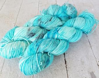 "Hand Dyed Sock Yarn, Superwash Merino - Nylon - Sparkle - Stellina, ""Callaidem"""