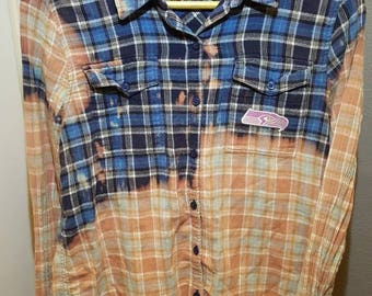 Seahawk Pink Faded Flannel Shirt