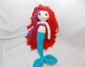 Little Miss Mermaid Doll Plush Toy/ Photography Prop/ Stuffed Toy / Soft Toy/Amigurumi Toy