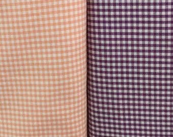 1/8 purple & 1/8 peach Carolina Gingham