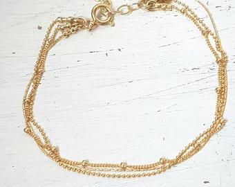 Gold anklet,gold ankle bracelet,gold filled anklet,minimalist anklet,Layered anklet,delicate gold anklet,Summer anklet,Chain anklet -60088