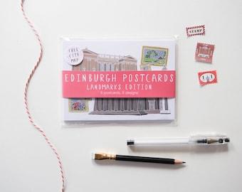 Edinburgh Landmarks Edition Postcards