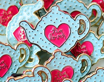 Tea Enamel Pin | Tea Pin | Pingame | Teapot Jewellery | Pin Badge | Lapel Pin | Gifts for Tea Lovers