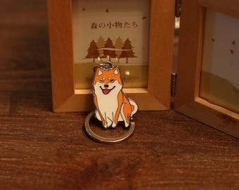 SHIBA INU -Smiling-  KeyChain