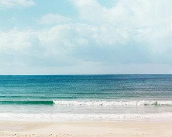 beach photography fine art 8x10 8x12 nautical decor ocean photography nature coastal prints waves photography blue sand sea teal art print
