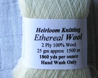 Ethereal Wool ~ 25% off - Spring Special ! ~ 1,837 yds/oz : 1500m/25gm for pure wool ring shawls