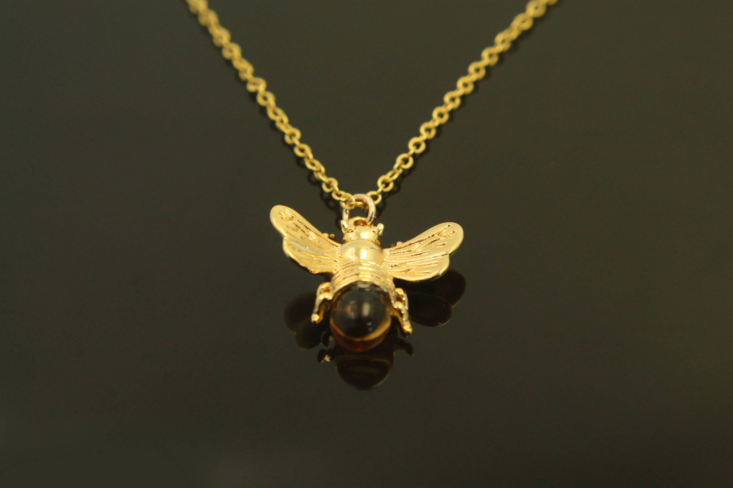 listing zoom nature fullxfull honey necklace bee cut bumble insect jewellery il laser pendant