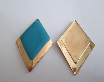 CHARM BLUE GOLD