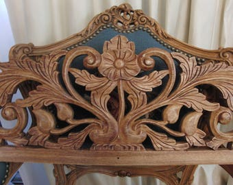 Vintage wood wall decoration/headboard by DiLorenzo