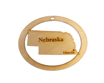 Nebraska Ornament - Nebraska State Ornament - Nebraska Gift - Nebraska Ornaments - Nebraska Gifts - Nebraska Decor - Personalized Free