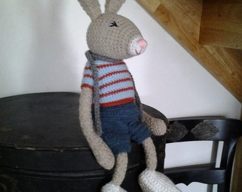 Ethan the fluffy rabbit wool blanket