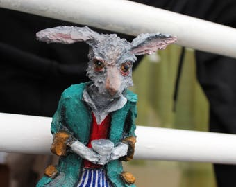 The March Hare Rabbit Alice im wonderland