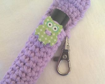 Owl Lip Balm Holder - Lavender Chapstick Case - Lip Balm Cozy Keyring - Gifts for Her - Stocking Stuffers