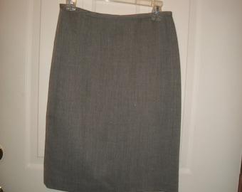 Vintage Talbot's Gray Wool Pencil Skirt Size 8P