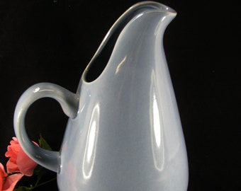 Russel Wright By Oneida, Stoneware Water Pitcher, Manitoga Blue, Modern Style Pitcher, Farmhouse Kitchen Pitcher, Vintage 2002